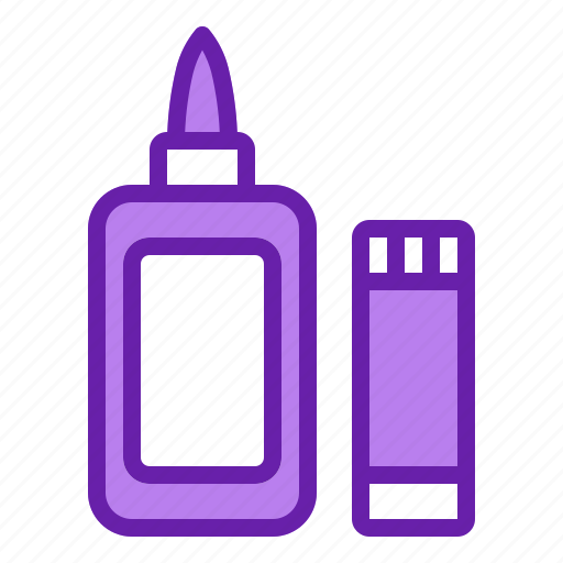 glue, kids, office, school, stationery icon