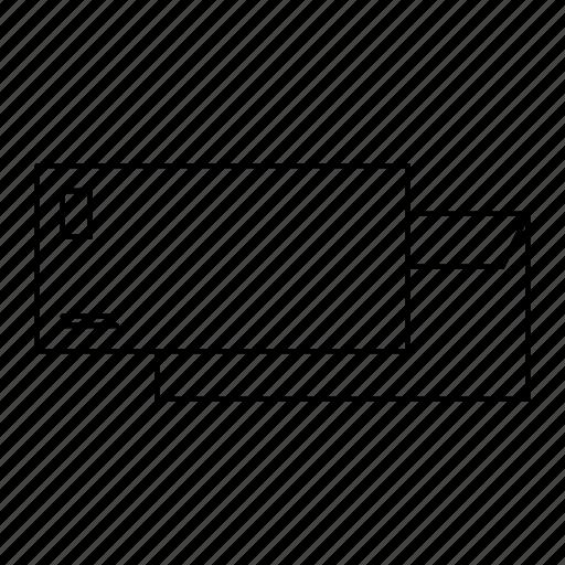 back, envelope, front, logo icon