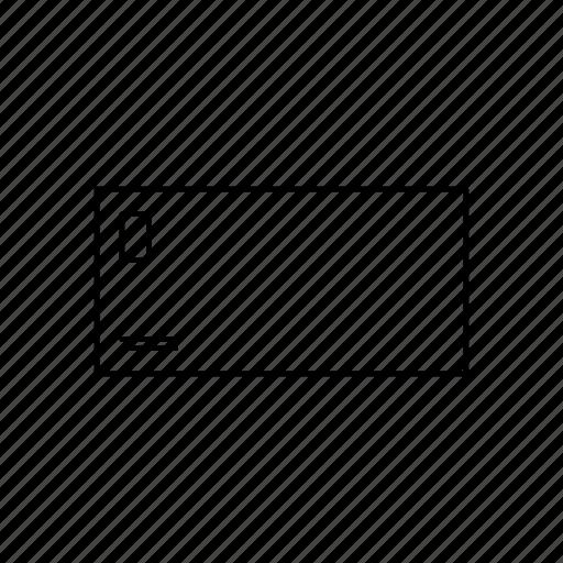 envelope, front, logo icon