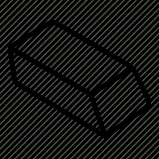 erase rubber eraser stationary clear remove icon download iconfinder