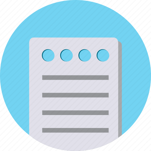notes, paper icon
