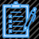 clipboard, list, checklist, menu, paper, sheet, pen