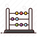 abacus, arithmetic, beads, mathematics, totalizer icon