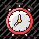 ringing clock, alarm, alert, alarm clock, clock, timer icon