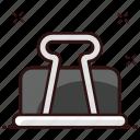 binder, bulldog clip, file grip, file holder, paper clip icon