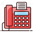 facsimile, fax, output device, telecopying, telefax icon