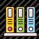 archives, data management, file shelf, folders, official document