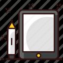 digital artboard, digital drawing tablet, digitizer, graphic tablet, pen tablet, tablet icon