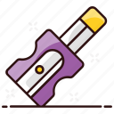 pencil, pencil sharpener, pencil grinder, sharpener, sharpener blade, educational tool, office supplies icon