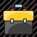 attache case, briefcase, carry case, documents bag, portfolio icon
