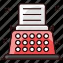 electromechanical machine, electronic machine, retro typewriter, typewriter, typing machine