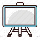 easel, lecture board, soft board, whiteboard, writing board icon