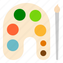 color, colors, palette, stationery icon