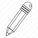 drawing, line, outline, pencil, school, thin, write icon