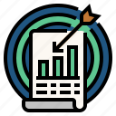 aim, goal, target, accuracy of statistics, statistical analysis icon