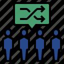 experiment, experiment statistics, population, random, statistical analysis icon