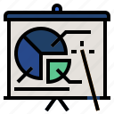 business analysis, business profit, business report, presentation, presenting data icon