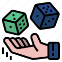 dice, possible, probability, business analysis, dice throwing icon