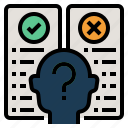 doubt, hypothesis, research hypothesis, statistical analysis, usability testing icon