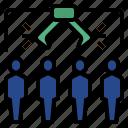 census, random, sampling, sampling variation, statistical analysis icon