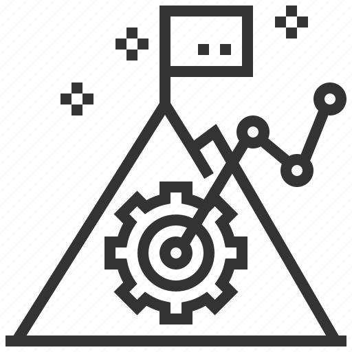 analysis, business, graph, growth, mission, statistical, success icon