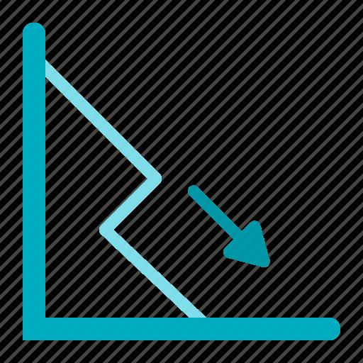chart, defisit, down, graph, statistics icon