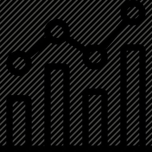 bar chart, diagram, graph, histogram, scatter diagram icon