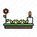 flower, garden, gardening, shovel, stayathome