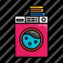 clothes, laundry, machine, stayathome, washing