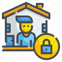 protect, house, home, stay, prevention, quarantine, confine icon