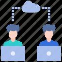 business, cloud, computer, internet, laptop, online working, technology