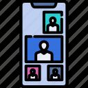 communication, facetime, internet, mobile, online, technology, video