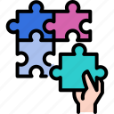 connection, game, jigsaw, piece, puzzle, solution, success