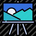 art, canvas, creative, drawing, landscape, paint, painting