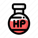 flask, health point, hit point, hitpoint, hp, rpg