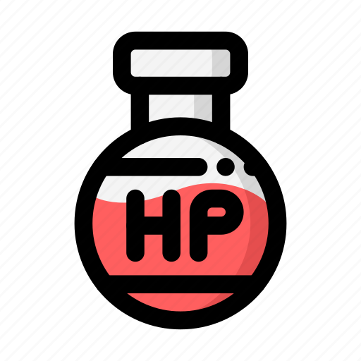 flask, health point, hit point, hitpoint, hp, rpg icon