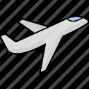 plane, airplane, aeroplane, flight, travel