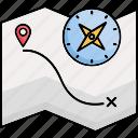 navigation, location, map, pin, gps