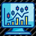 computer, graph, statistics, analysis, stock, trading