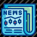 newspaper, stock, market, business, report, news, trading