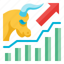 bull, market, business, investment, trading, stock, up