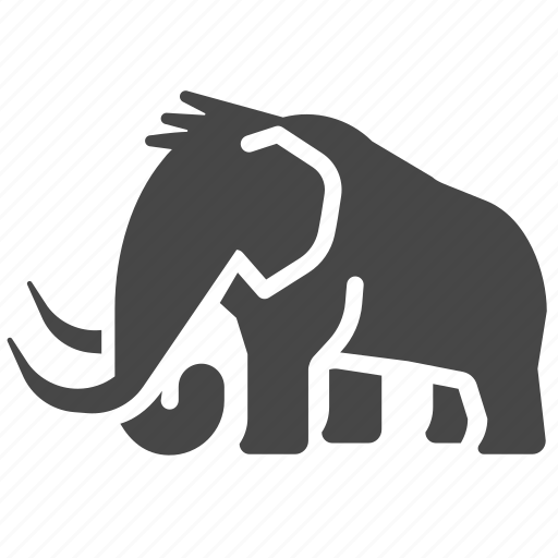 animal, elephant, mammoth, primeval, primitive, stone age icon