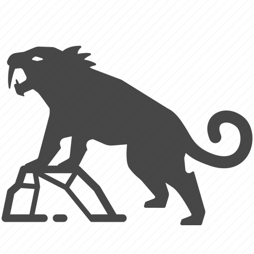 ancient, animal, primeval, saber tooth, sabre tooth, stone age, tiger icon