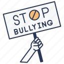 bullying, hand, sign, stop, vote icon