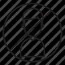 avoid, block, man, user icon