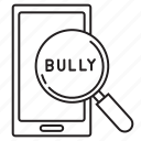 cyber bullying, phone, search icon
