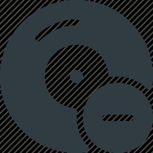 compact, disk, drive, remove, storage icon