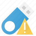 alert, disk, drive, flash, storage, usb icon