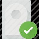 check, disk, drive, hard, storage icon