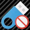 disable, disk, drive, error, pendrive, storage, usb icon